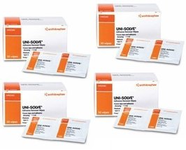 Smith And Nephew Uni-Solve Adhesive Remover Wipes 50/bx 4 Box Combo Deal - $27.99