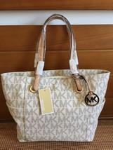 Michael Kors Signature MK Vanilla Jet Set Tote Handbag - $139.99