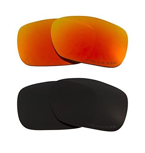 Primary image for New SEEK Replacement Lenses Oakley TWOFACE - Polarized Black Red