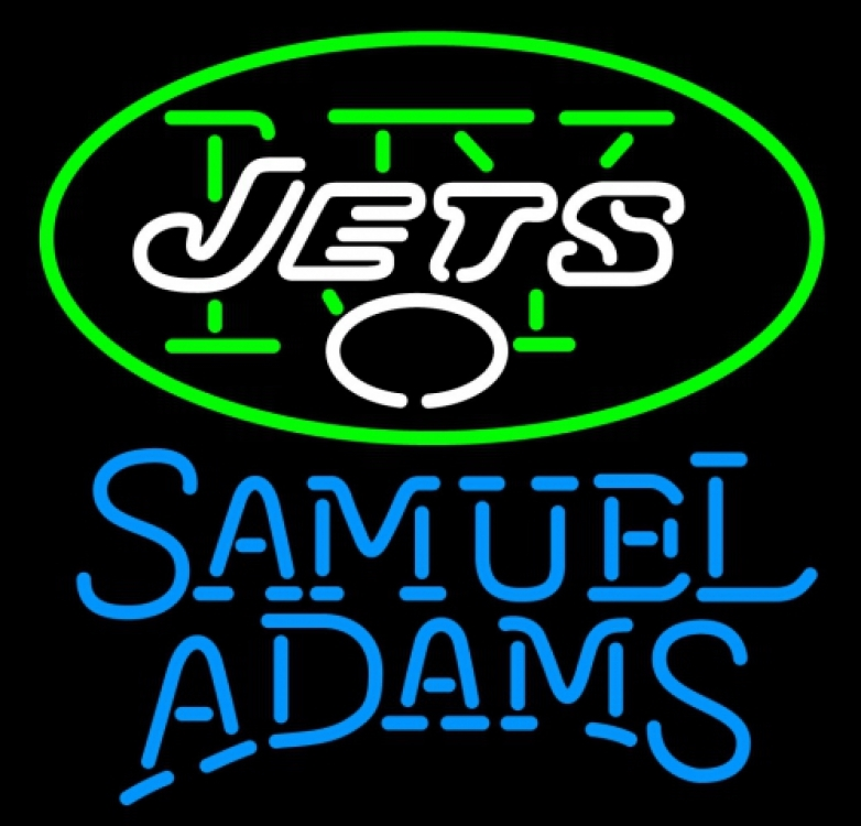 Samuel Adams NFL New York Jets Neon Sign