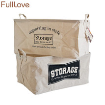 FULLLOVE® 46*31*24cm Folding Letter Printed Storage Box Laundry Basket L... - $30.77