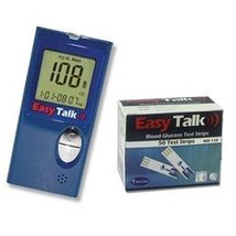 Easy Talk Meter Kit Combo ( Meter Kit and Easy Talk Test Strips 50ct) - $20.79