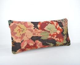 floor bed kilim cushion ,Kilim lumbar Pillow  12x24 inch 30x60 cm cushion - $18.00