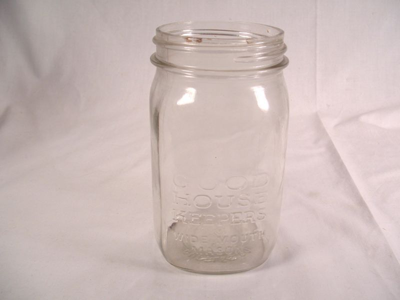 Vintage Cupples Co Square Quart Mason Jar
