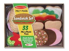 Melissa & Doug Felt Play Food Sandwich Set (Pretend Play, Easy to Clean, Include - $38.19