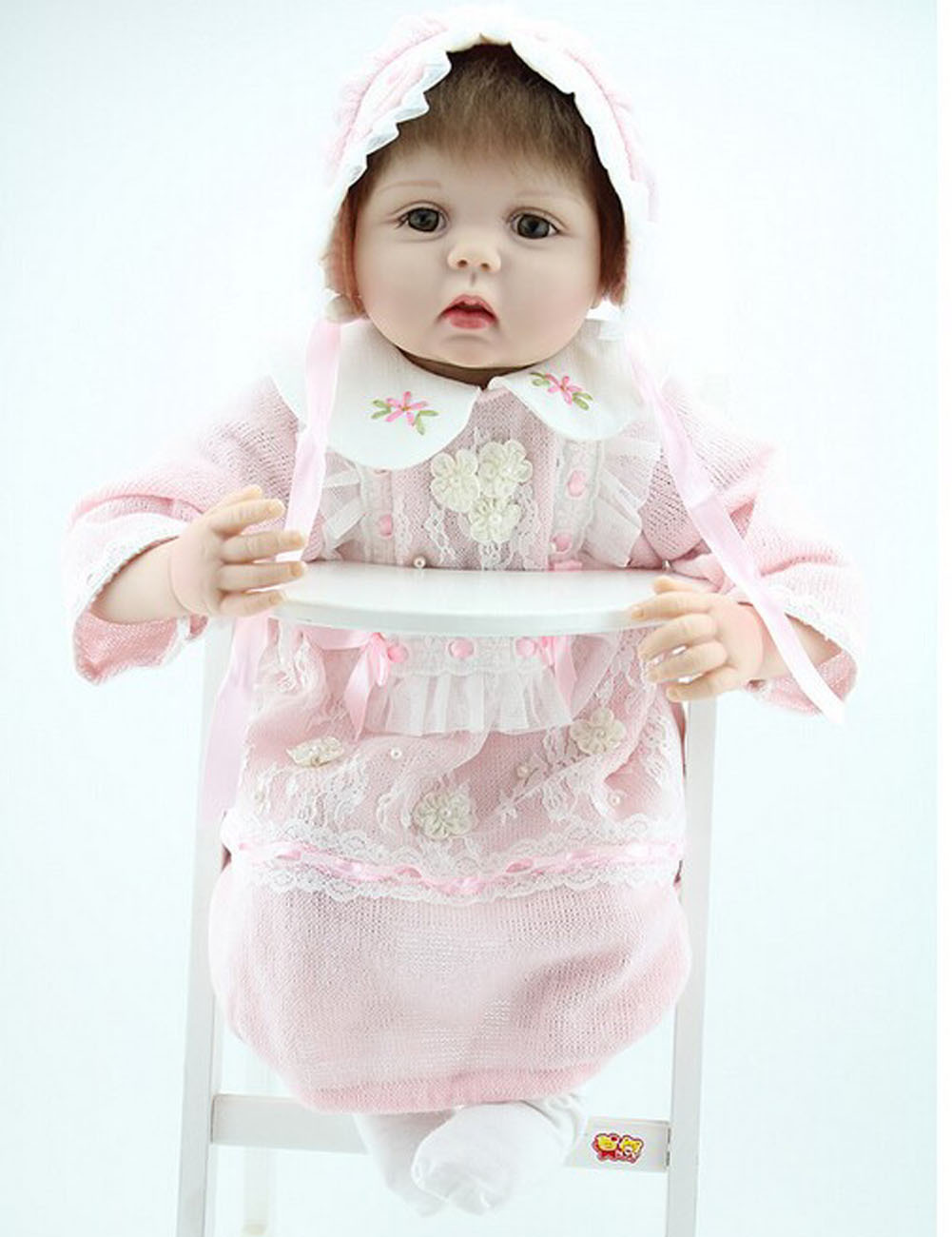 Realistic Reborn Fake Babies Soft Vinyl Girl Doll