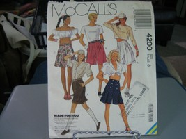 McCall's 4200 Misses Shorts Pattern - Size 8 Waist 24 - $9.89