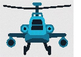 pepita Blue Toy Helicopter Needlepoint Kit - $85.00