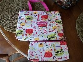 2pc Make Up Bag Set Cosmetic Travel & Tech Case Nwot - $18.72