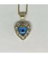 18k Gold Necklace Evil Eye Hamsa Heart Jewellery - $468.67