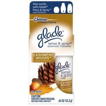 Glade Sense & Spray Automatic Air Freshener Refill, Cashmere Woods, 0.43... - $9.52