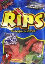 Rips Strawberry & Green Apple Licorice Pieces (Large 6.5 oz Bags) 2 Pack - $14.21