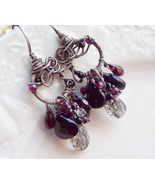 Midnight Moon wire wrap earrings - $109.00