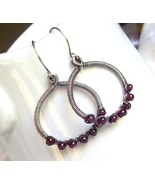 The Garnet Grove wire wrap earrings - $42.00