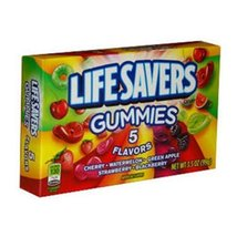 Life Savers Gummies 5 Flavor Candy 3.5 Ounce Theater Size Packs 12 Boxes - $32.62