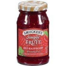 Smucker's Simply Fruit Raspberry Spread, 10 oz, 2 pk - $22.21