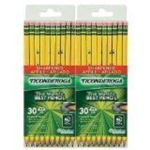 Dixon Ticonderoga Pre-Sharpened Pencil, #2, Yellow Barrel-30 ct, 2 pk - $28.66