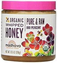 Madhava Naturally Sweet Organic Pure & Raw Gluten-Free Whipped Honey, 10... - $22.95