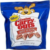 Canine Carry Outs Beef Flavor Dog Treats, 50-oz - $27.37