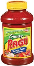 Ragu Chunky Pasta Sauce, Tomato Garlic & Onion, 45 Ounce Bottles (Pack o... - $35.20