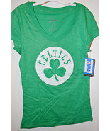 NBA Womens Boston Celtics T-Shirt 4 Leaf Clover Junior Size Sm and Med NWT - $11.69