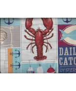 Lobster Daily Catch Nautical clambake seaside o... - $9.99