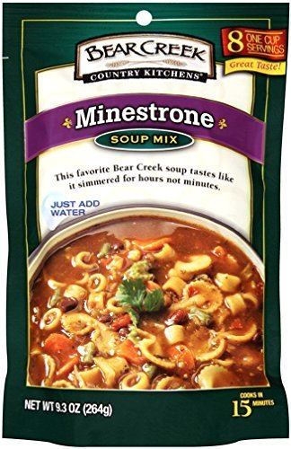 bear creek soup mix  minestrone  9 3 ounce  pack of 6 Bear Creek Minestrone Soup Recipes Bear Paw Soup