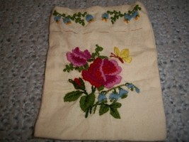 Floral Crewel Embroidered Trinket Bag - $20.00