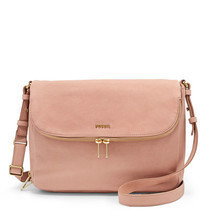 Fossil Preston Shell Leather Flap Closure Messenger & Crossbody/Shoulder... - $319.99