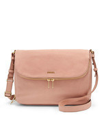 Fossil Preston Shell Leather Flap Closure Messe... - £247.30 GBP
