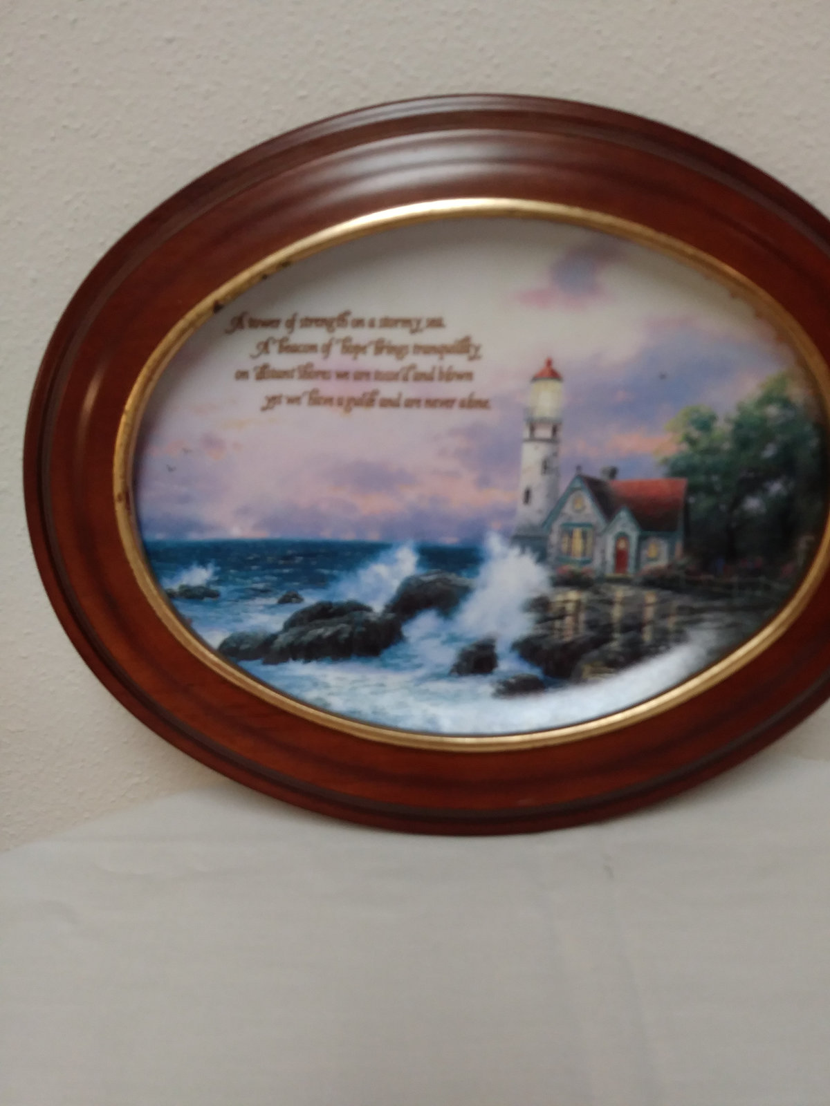 Beacon of Hope by Thomas Kinkade Wall Plaque Plate Number 1096 C  Plate