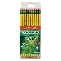 Dixon Ticonderoga Wood-Cased 2HB Pencils, Pre-Sharpened, Box of 30, Yell... - $13.81