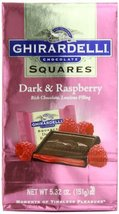 Ghirardelli Chocolate Squares, Dark & Raspberry Filled, 5.32-Ounce Packages (Pac - $45.83