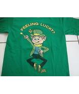 """Feeling Lucky"" Lucky Charms Leprechaun Shamrock Green T Shirt Men's Size S - $17.96"