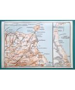 SPAIN Canary Gran Canaria Island Las Palmas & Environs - 1911 BAEDEKER MAP - $12.60
