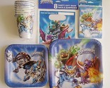 Skylanders Party Supplies Lot for 8 Invitations Plates Loot Bags SuperChargers