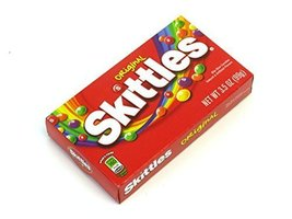 Skittles Original Bite Size Candies - 3.5 oz. Theater Size Box (Pack of 6) - $21.67