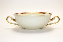 Rosenthal Germany Parzival Cream Soup white whith red & gold tones - $24.74
