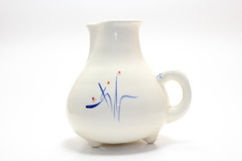 Mid Century Blue Floral Motif Creamer Pitcher By Levine Pottery CA - $19.79