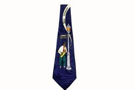 New Orleans Rue Bourbon Sax Player Jazz Theme Steven Harris Hand Made Tie - $12.86
