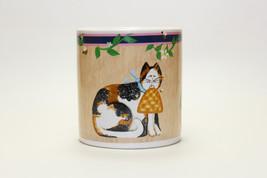 Sakura Garden Cats Calico Cat Fiddlestix Coffee Mug - $16.82