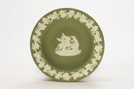 Wedgwood White on Green jasperware Pegasus and Muses greek themes cameo - $19.79