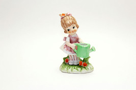 Vintage Lovables by Seymour Mann Porcelain girl w/ watering can figurine... - $24.74