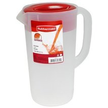 Rubbermaid Classic Pitcher 2-1/4 Qt. Clear, Red Bulk by Rubbermaid Inc - $10.88