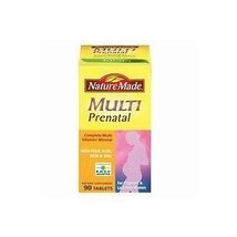 Nature Made Prenatal Multi Dietary Supplement , 90 Tablets ea ( Pack of 2) - $46.09