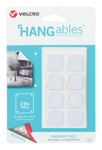"New!! Velcro HANGables Removable Fasteners 3/4"" L x 3/4"" W White 8 pk 95180 - $7.99"