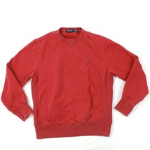 Nautica Sweatshirt Col Rond Taille Adulte TAILLE M Polycoton Rouge Pull Vintage - $22.66