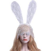 Sexy Rabbit Ears Lace Mask Veil Headband Evening Party Halloween Masquerade - $13.98