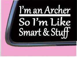 "Archer Smart Stuff TP 316 Sticker 8"" Decal bow broadhead arrow target feather - $3.99"