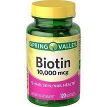 Spring Valley Biotin Dietary Supplement, 10,000 mg, 120 Softgels - $23.38